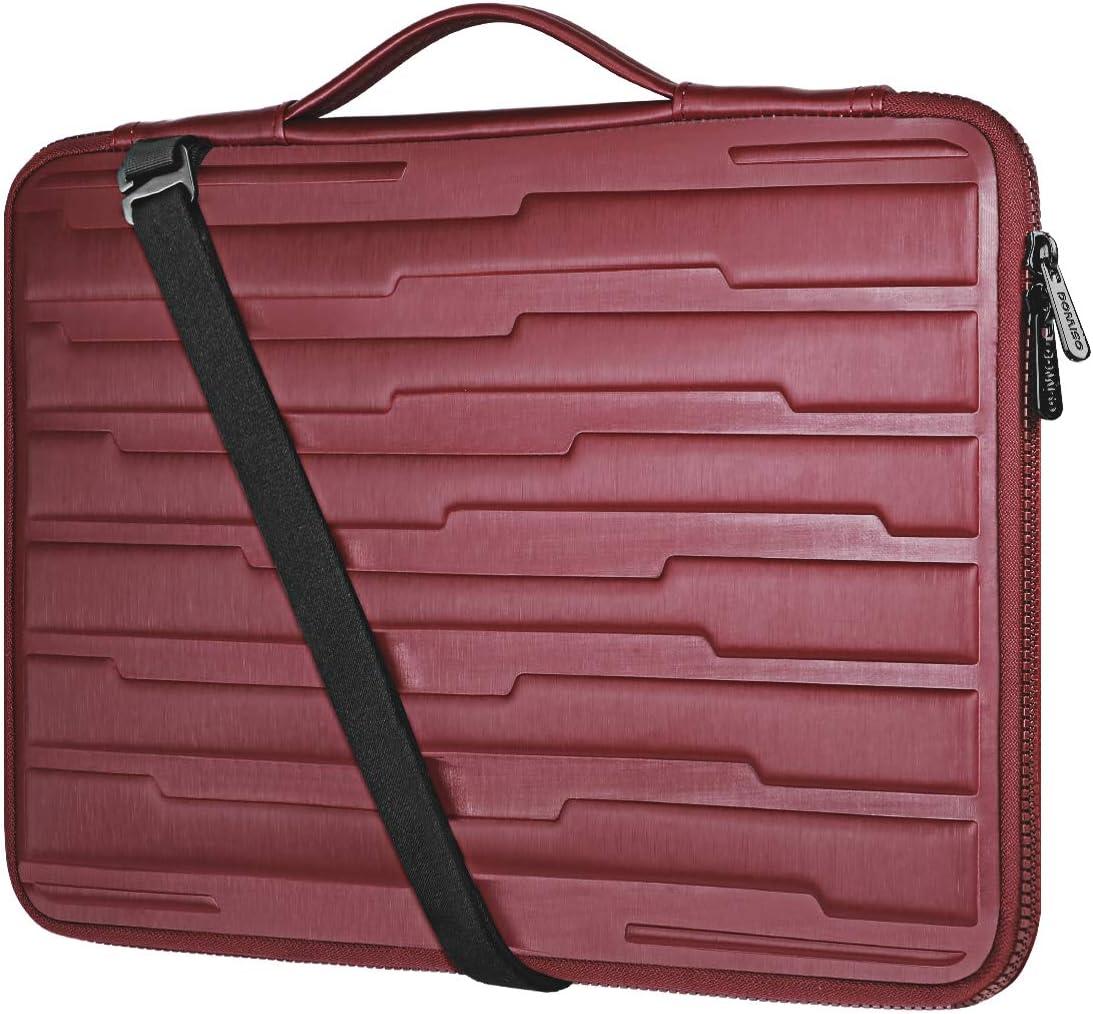 DOMISO 15.6 Inch Laptop Sleeve Shouder Bag Shock Resistant Protective Case Handbag for 15.6