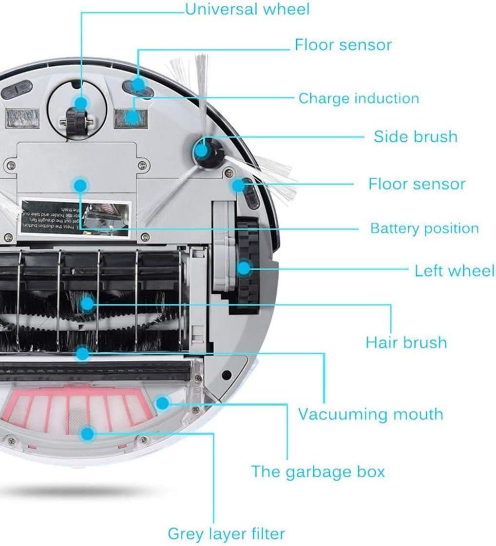 XDHN Aspirateur Robot, Super Mince, Forte Puissance D\'Aspiration 1200 Pa, Aspirateur Silencieux Et Auto-Chargé, Nettoie Les Sols Durs des Tapis Mi-Hauts, GD Pink