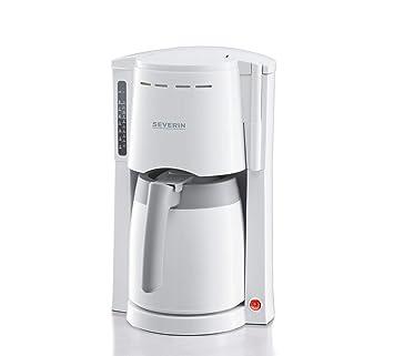 SEVERIN KA 4114 Cafetera para filtros de Café Molido, 8 tazas incluye jarra termo, blanco/gris: Amazon.es: Hogar