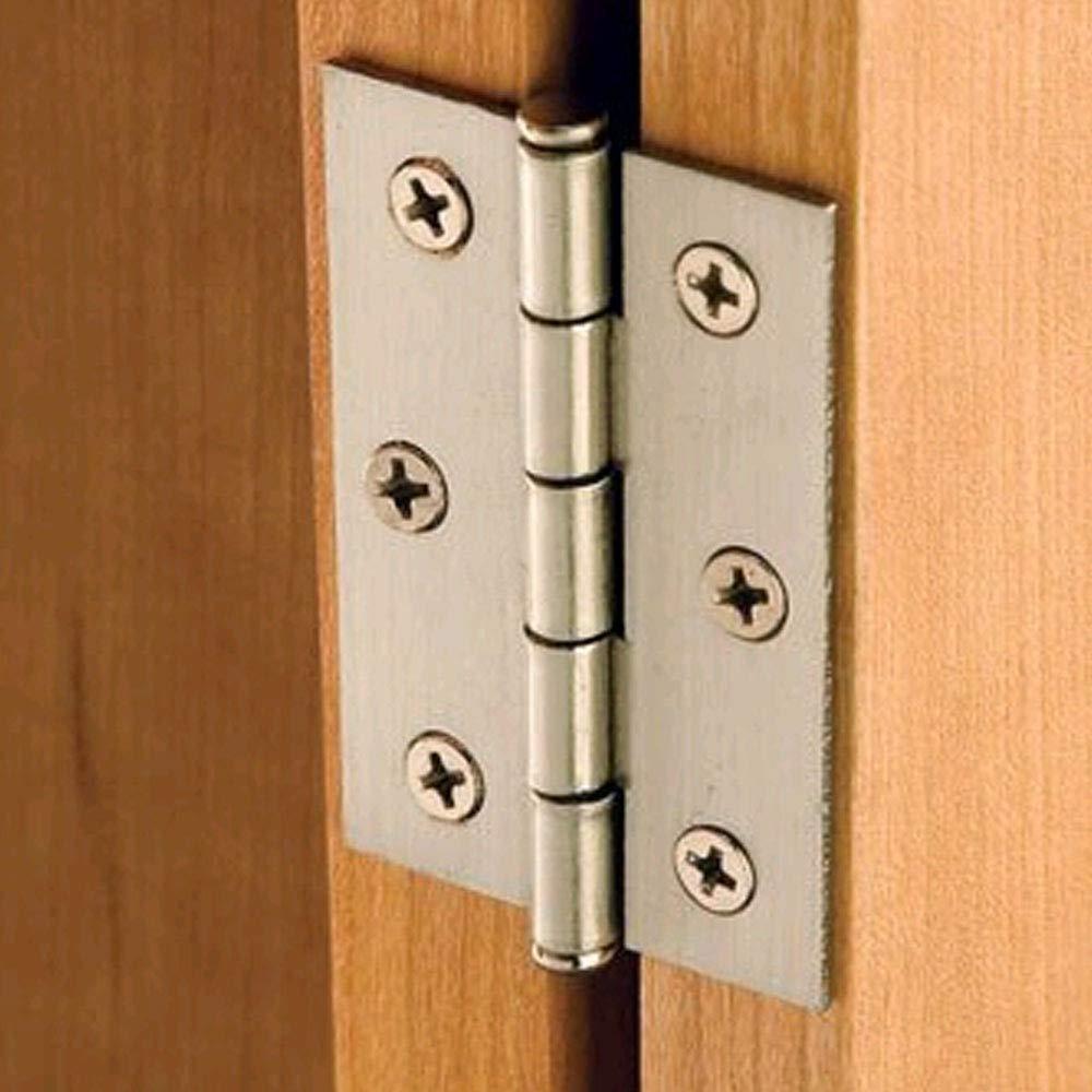 HSEAMALL 5 pares de bisagras de armario con cierre autom/ático bisagras de puerta con tornillos para muebles del hogar Blackr