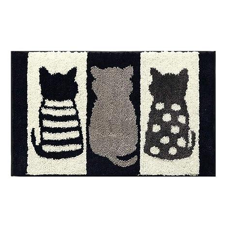 Gato Felpudo Suave Animal Zona Alfombra para Sala de Estar baño Dormitorio hogar Decorativo Alfombra