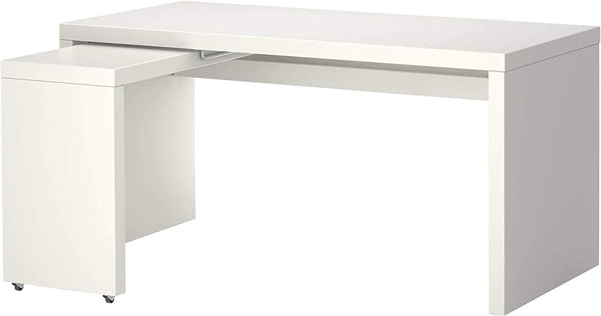 IKEA Malm Libro Negro Escritorio Oficina con Superficie extraíble ...