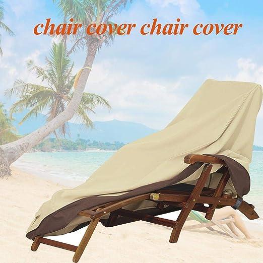 Zay 198 90 84 cm jardín tumbona cubre muebles de jardín cubiertas con hebillas impermeable polvo cubiertas de la silla cubierta reclinable al aire libre: Amazon.es: Hogar