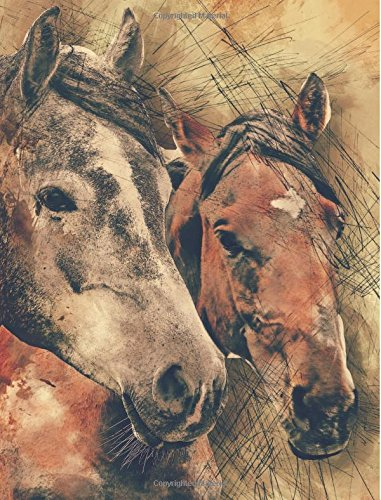 """Horses Notebook: College Ruled Composition Book (7.44"""" x 9.69"""" - 100 Sheets - 200 Pages) Animal Lovers Journal pdf epub"""