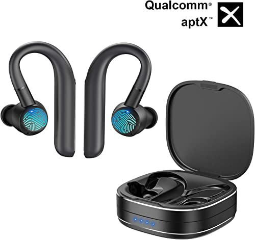 Wireless Earbuds, AUGYMER Bluetooth 5.0 Earphones aptX CVC Noise Cancellation 96H Play Auto Pairing Wireless Headphones for Running Sports Mic Bluetooth Earbuds