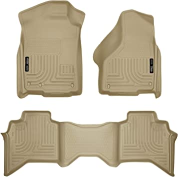 Husky Liners Fits 2019 Dodge Ram 1500 Quad Cab Weatherbeater Front /& 2nd Seat Floor Mats