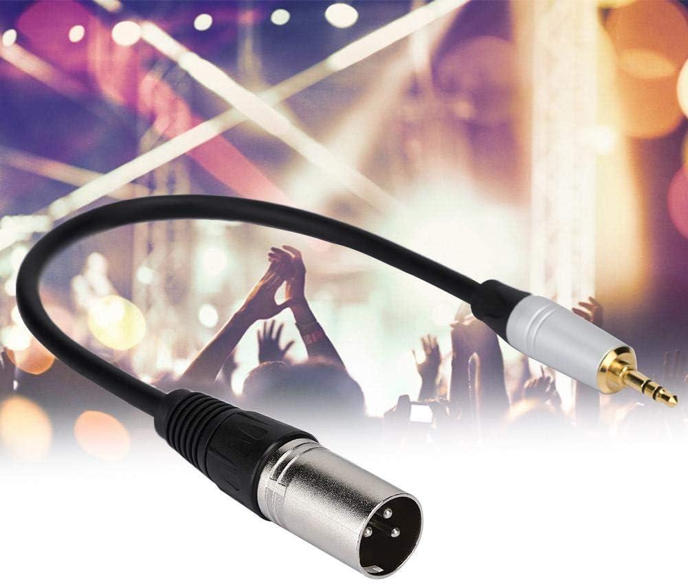 Computadora Cable Adaptador de Audio Macho a XLR Macho de 3.5mm Cables de Micr/ófono Est/éreo para Smartphone Garsent Cable Jack Est/éreo etc. C/ámara de Video