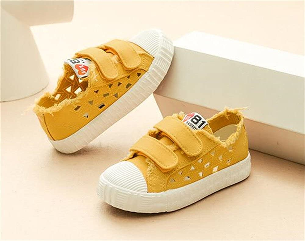 White-25//8.5 M US Toddler LYLIFE Kids Canvas Shoes Boy Girl Unisex Sneakers Loafers School Board Shoes