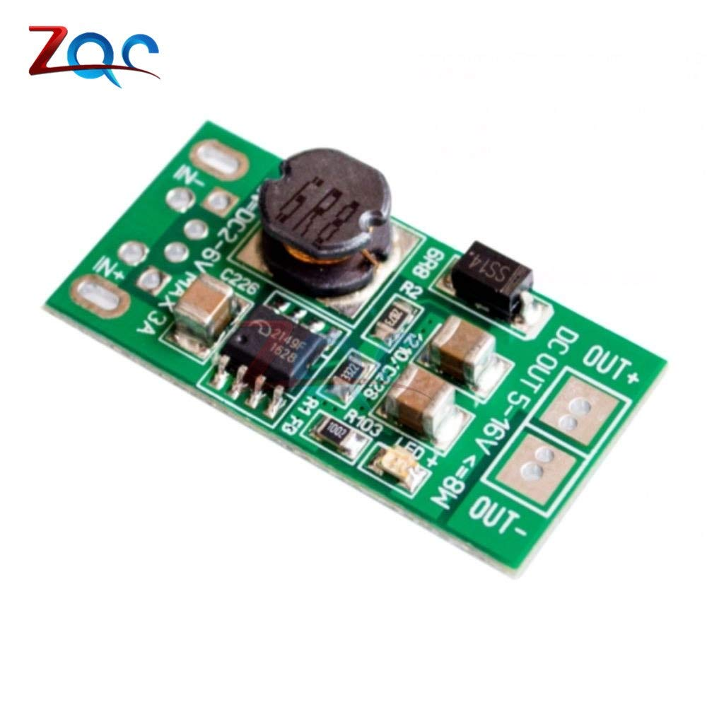 8W USB Input DC-DC 5V (2V-6V) to 12V Step Up Boost Module Power Supply Converter Charger Module 90% Efficiency Board