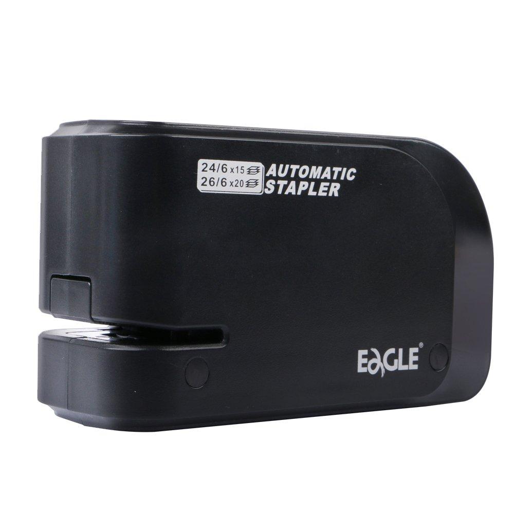 nero Eagle Electric stapler-heavy Duty Automatic Stapler alimentato a batteria o AC capacit/à: 20/fogli