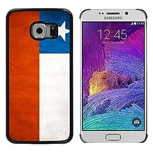 Be Good Phone Accessory // Dura Cáscara cubierta Protectora Caso Carcasa Funda de Protección para Samsung Galaxy S6 EDGE SM-G925 // National Flag Nation Country Chile