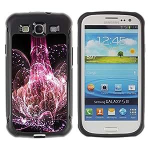 Suave TPU Caso Carcasa de Caucho Funda para Samsung Galaxy S3 I9300 / Universe Explosion Nature Life Pink Blossom / STRONG
