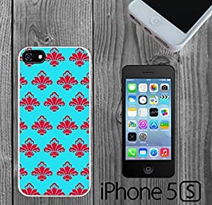 Blue and Red Damask Pattern Custom made Case/Cover/skin FOR iPhone 5/5s