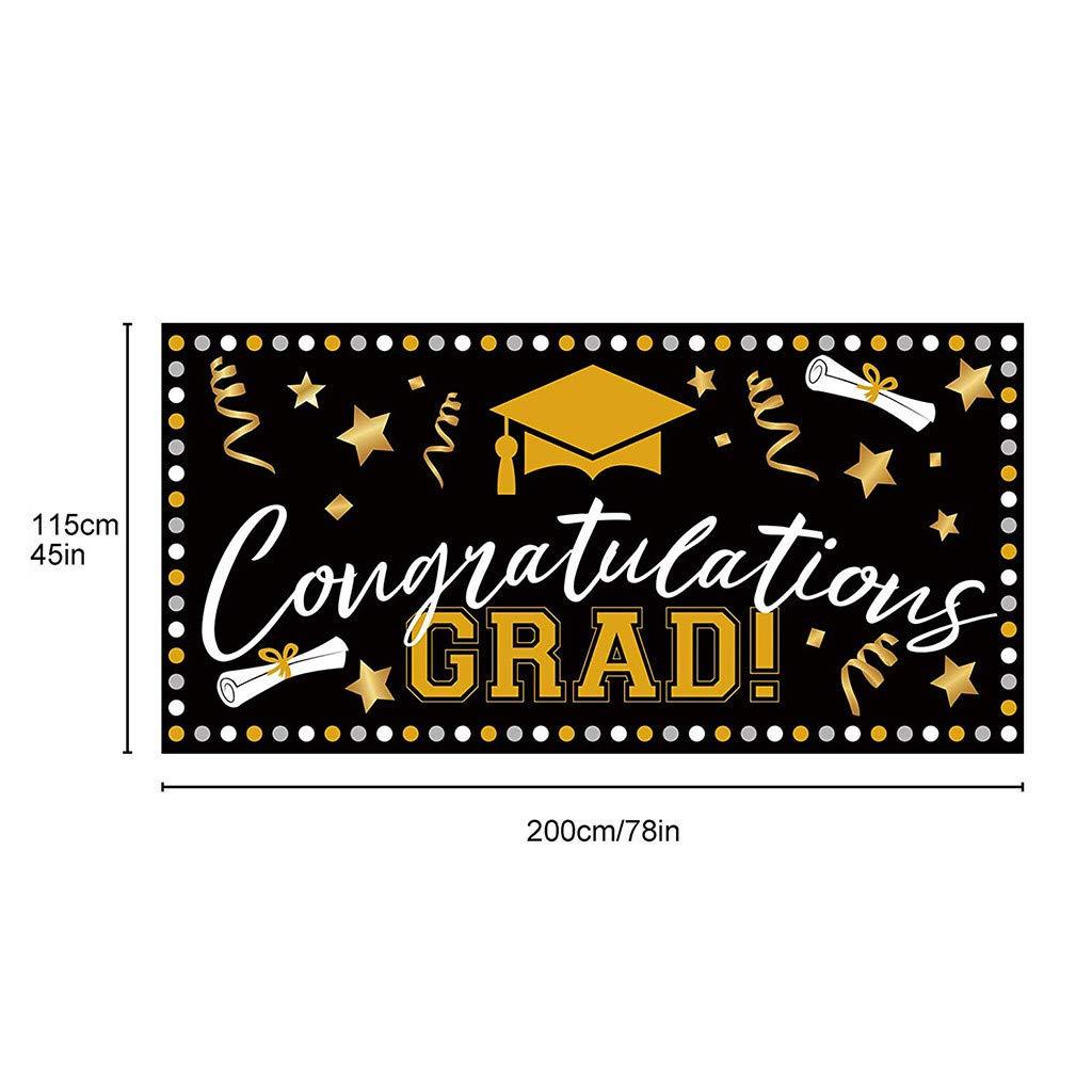 Tensay Gl/ückwunsch abschluss deko Girlande Banner Foto-Requisit f/ür graduierung Abschlussfeier Fahnen Foto Hintergrund Unterzeichnungs Tapisserie Innendekoration