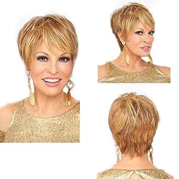 Wig Frauen Kurze Haare Golden Atmungsaktive Mode Haar Naturlich