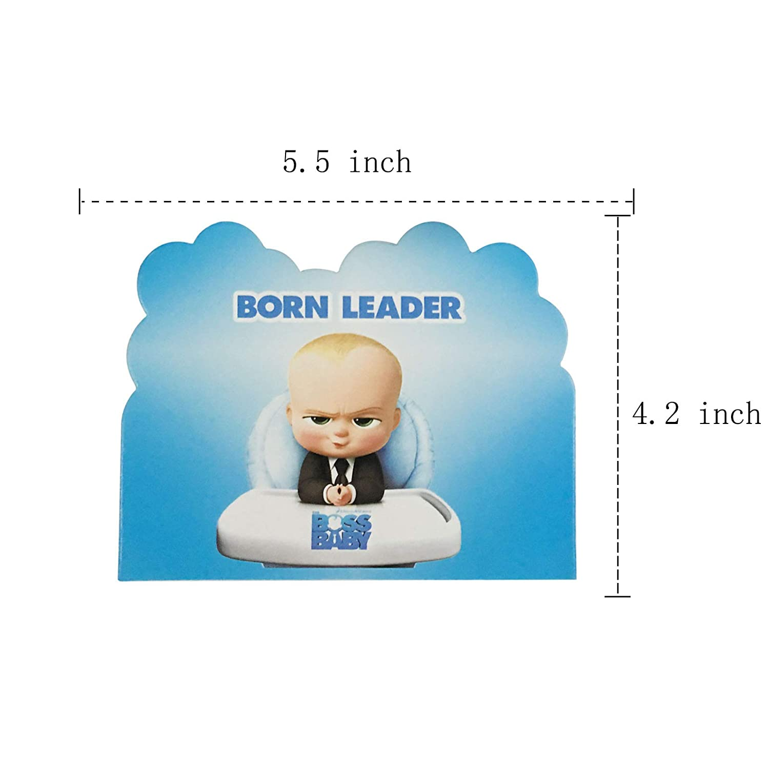 20pcs Boss Baby Birthday Party Invitations For Kids Baby Shower Party Supplies