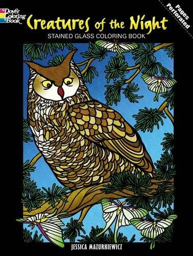 Download Creatures of the Night Stained Glass Coloring Book (Dover Nature Stained Glass Coloring Book) pdf epub