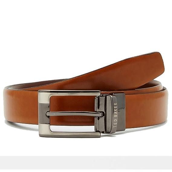 0787832545b23 Ted Baker Crafti Smart Reversible Leather Belt - Tan  Amazon.co.uk  Clothing