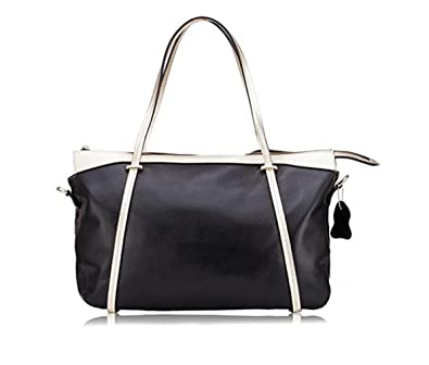 7431af4b48 Image Unavailable. Image not available for. Color  Women s Genuine Leather Tote  Handbag Handle Shoulder Cross Body Shopping Bag ...
