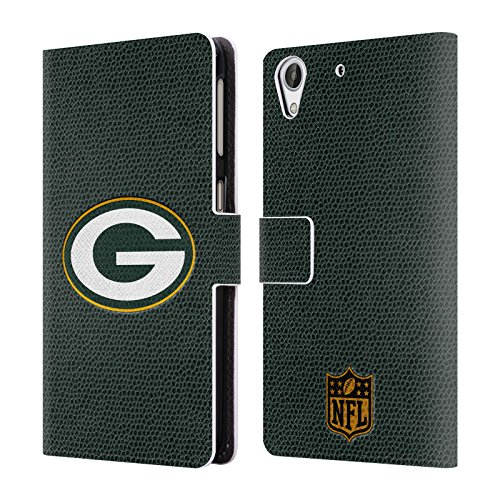 Official NFL Football Green Bay Packers Logo Leather Book Wallet Case Cover For HTC Desire 626 by Head Case Designs