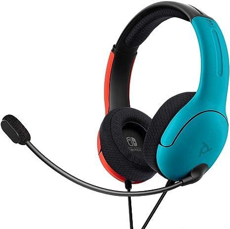PDP - Auricular Stereo Gaming LVL40 Con Cable, Azul / Rojo (Nintendo Switch): Amazon.es: Videojuegos