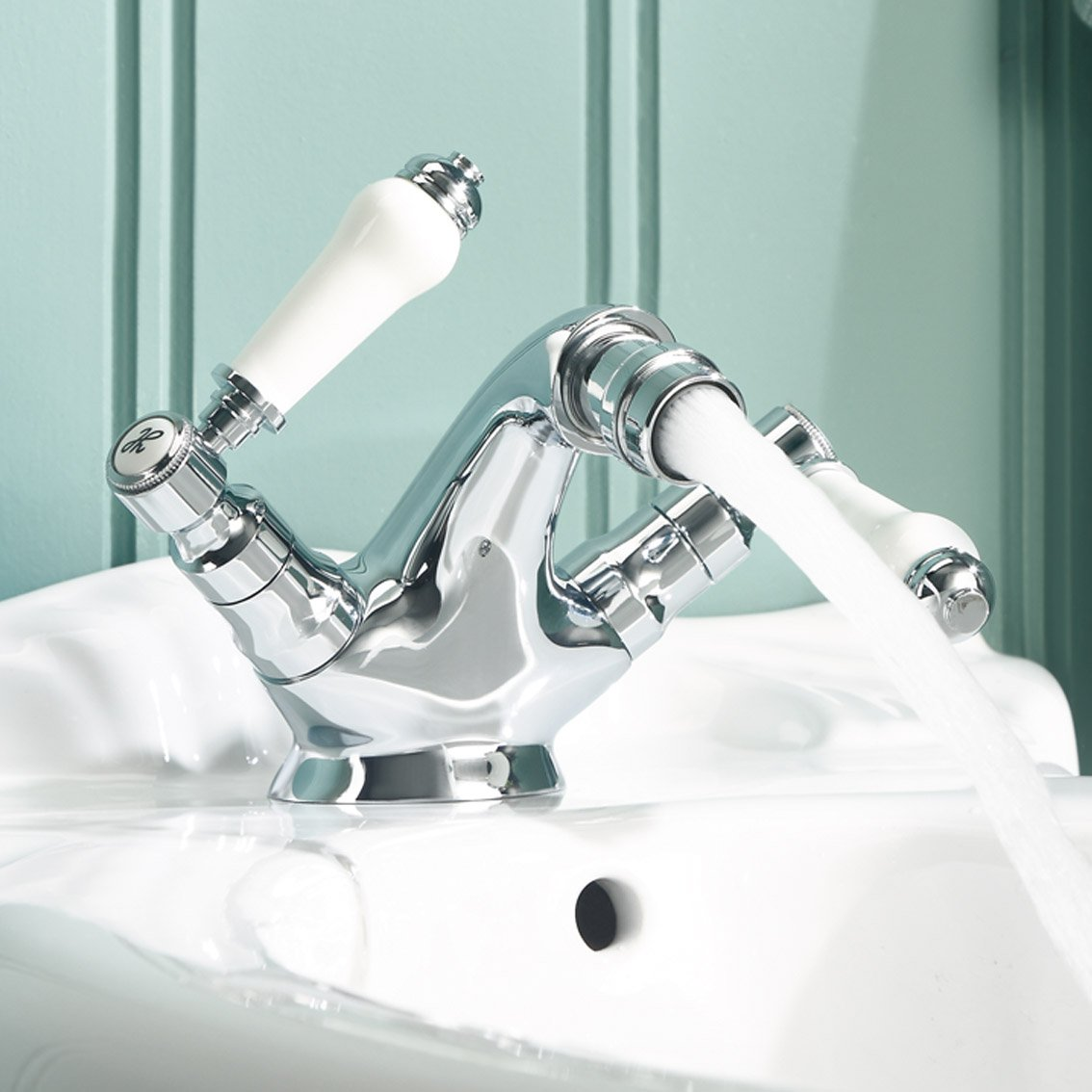 Regal Traditional Bathroom Chrome Lever Toilet Bidet Mixer Tap ...
