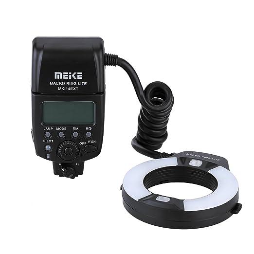2 opinioni per Meike MK-14EXT Macro i-TTL il Lampeggiatore Anulare Flash Speedlite con la