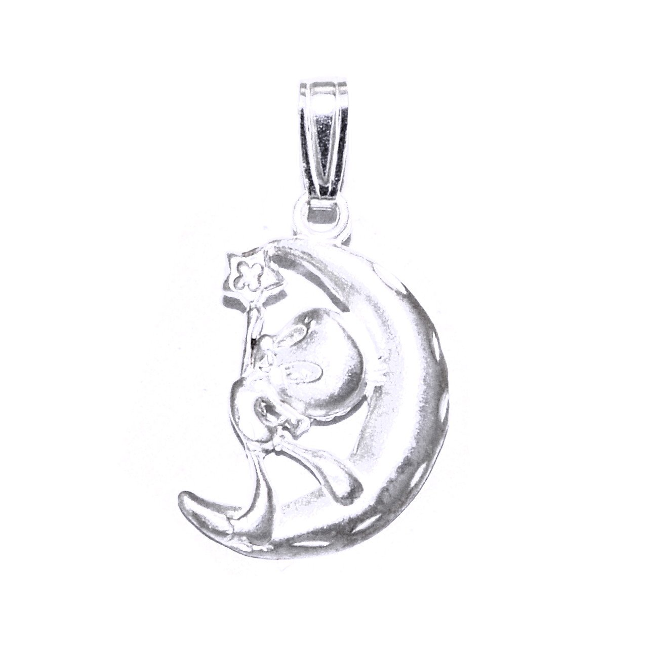 Shin Brothers Inc Sterling Silver Tweety on the Moon Pendant