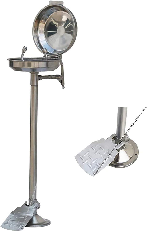 HHYGR Pedal Vertical anticongelante 304 Acero Inoxidable lavaojos lavaojos lavaojos con Tapa Temperatura Ambiente de Trabajo