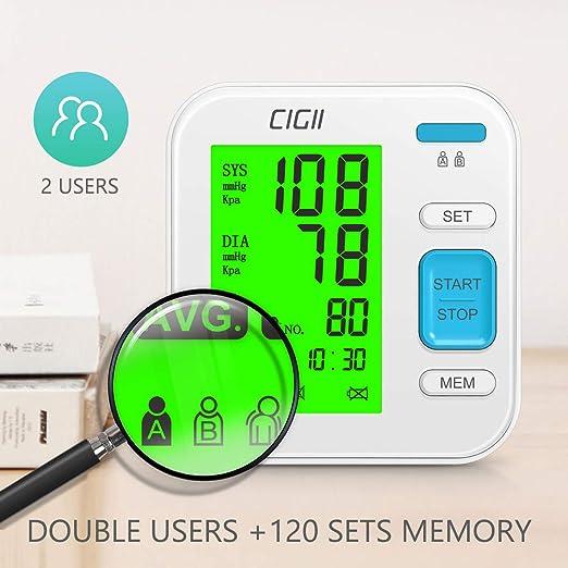 Amazon.com: Monitor de presión arterial por CIGII, máquina ...