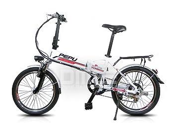 Pegasus manillar de bicicleta E-Bike 20quot pedalata asistida eléctrica plegable WHITE