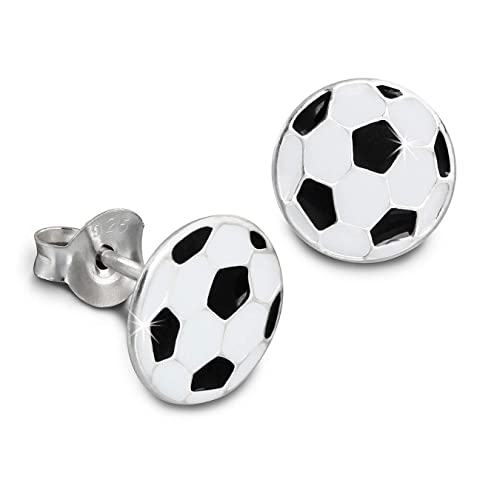 Kids SterlinX - pendientes con esmalte-laca - Balón de fútbol ...
