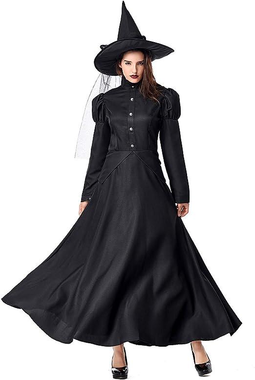 El Mago de Oz de Halloween Bruja para Mujer Cosplay Disfraz,Negro ...