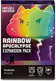 TeeTurtle Unstable Unicorns Rainbow Apocalypse Expansion Pack - Designed To Be Added To Your Unstable Unicorns Card Game, Bla