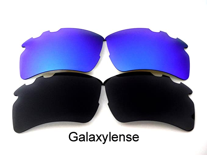a21daf4493 Image Unavailable. Image not available for. Color  Galaxy Replacement Lens  For Oakley Flak 2.0 XL Vented Sunglasses Black Blue Polarized
