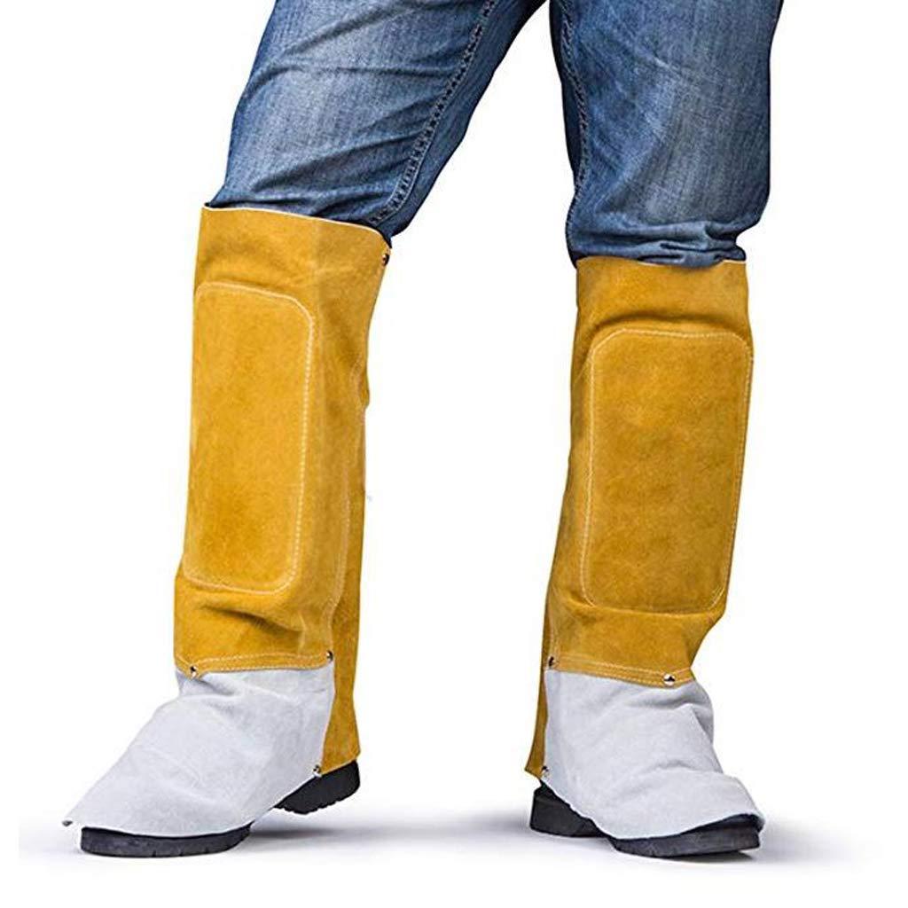 perfeclan Polainas de Soldadura de Cuero Protector Cubierta Zapato Soldador Piezas de Equipo Industrial Eléctrico: Amazon.es: Bricolaje y herramientas