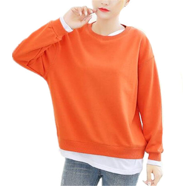 AILIENT Sweatshirts Damen Basic Oberteile Elegant Langarm