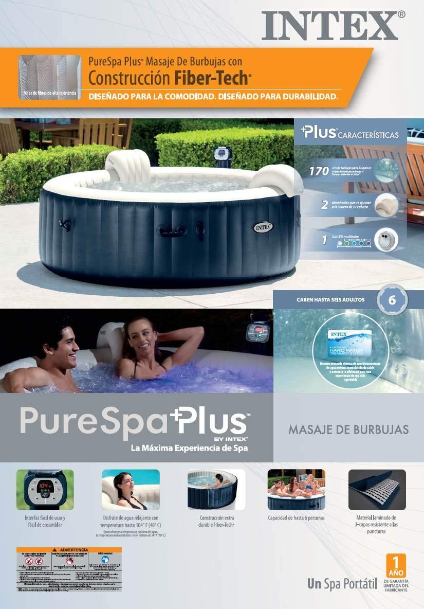 Intex Pure Spa 28409EIntex - Jets de burbujas para 6 personas ...