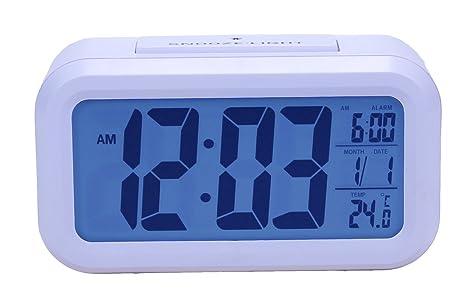 Re werk yizz mini led desk clock con sveglia nuova serie in legno