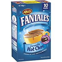 ALLEN'S FANTALES Caramelly Hot Chocolate Drink, Chocolate Shaker Included, 10 Sachets, Total 162g