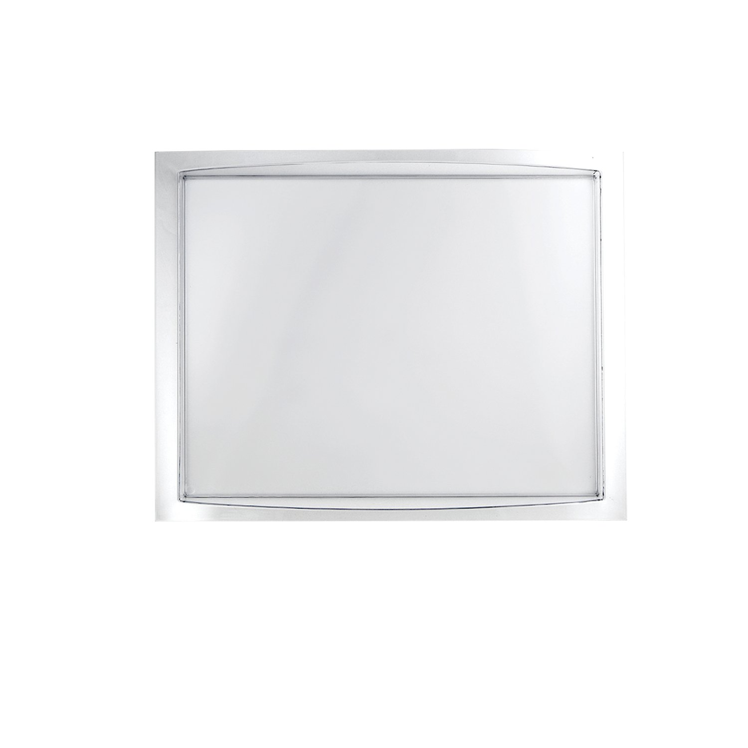 Party Essentials N131021 Hard Plastic Tray, 13'' x 10'', Clear (Pack of 12) by Party Essentials