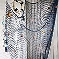 YOAYO Decorative Fishing Net, Sea Theme Nautical Fish Net Decor for Home/Patio Wall Decoration,Photo Hanging Display Frames,79x59inches