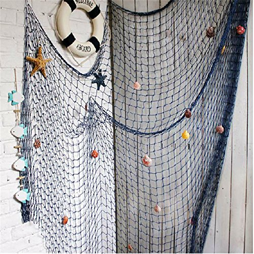 YOAYO Docorative Fish Net, Nautical Fishing Net Decoration