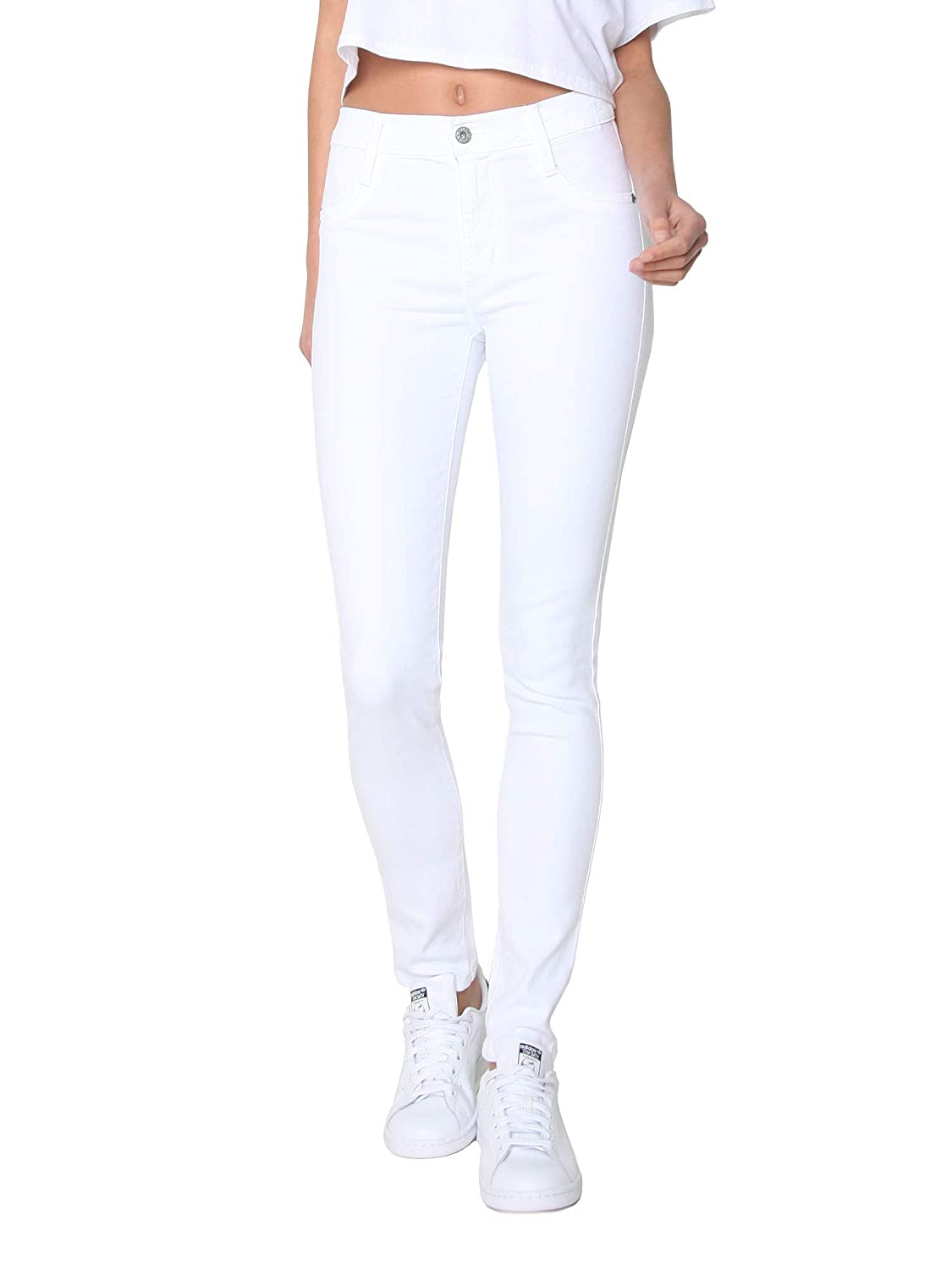 292bf8ce9 Amazon.com: James Jeans Women's High Waisted Skinny Jeans in Fresh White:  Clothing