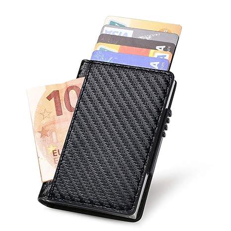 39a41f7fc7 URAQT Porta Carta di Credito, RFID Portafoglio per Carte di Credito,  Funzione di Adsorbimento