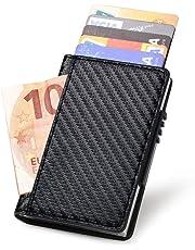URAQT Tarjetero para Tarjetas de Crédito, Delgado Billetera de Aluminio con RFID Bloqueo para Tarjetas