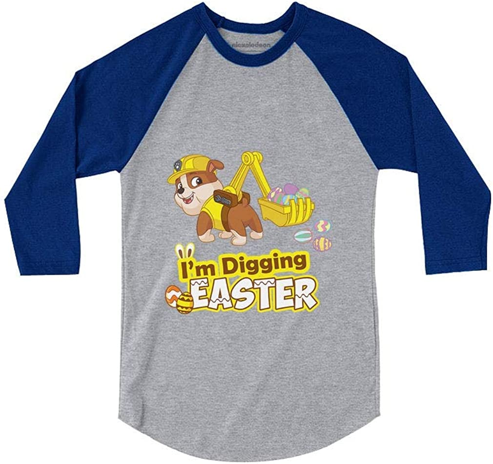 Rubble Paw Patrol Im Digging Easter 3//4 Sleeve Baseball Jersey Toddler Shirt