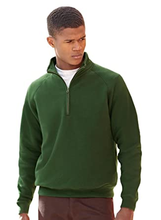 204085359839 Fruit of the Loom Herren Sweatshirt Zip Neck Sweat  Amazon.de  Bekleidung