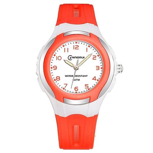 Niño] Reloj de cuarzo Encantador] Impermeable Natación Luminoso Relojes digitales Niña-I: Amazon.es: Relojes