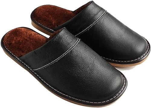 Cattior Mens Winter Warm Fuzzy Slippers Indoor Outdoor Slipper Shoes